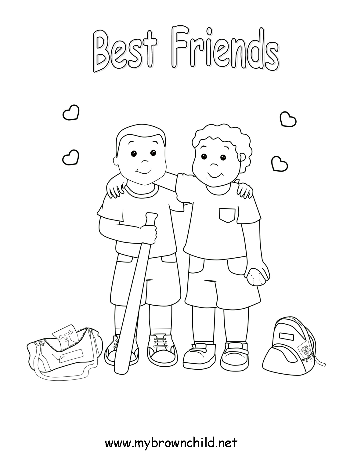 Coloring Pages For Friends