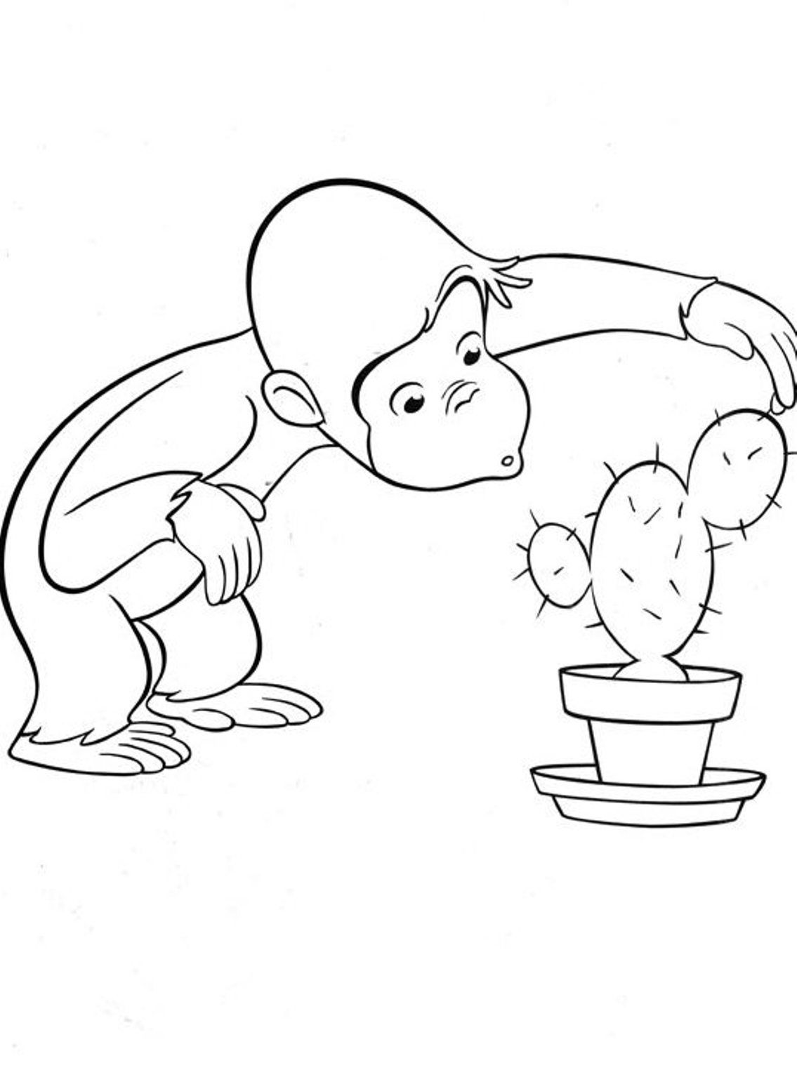 Curious George Coloring Pages To Print
