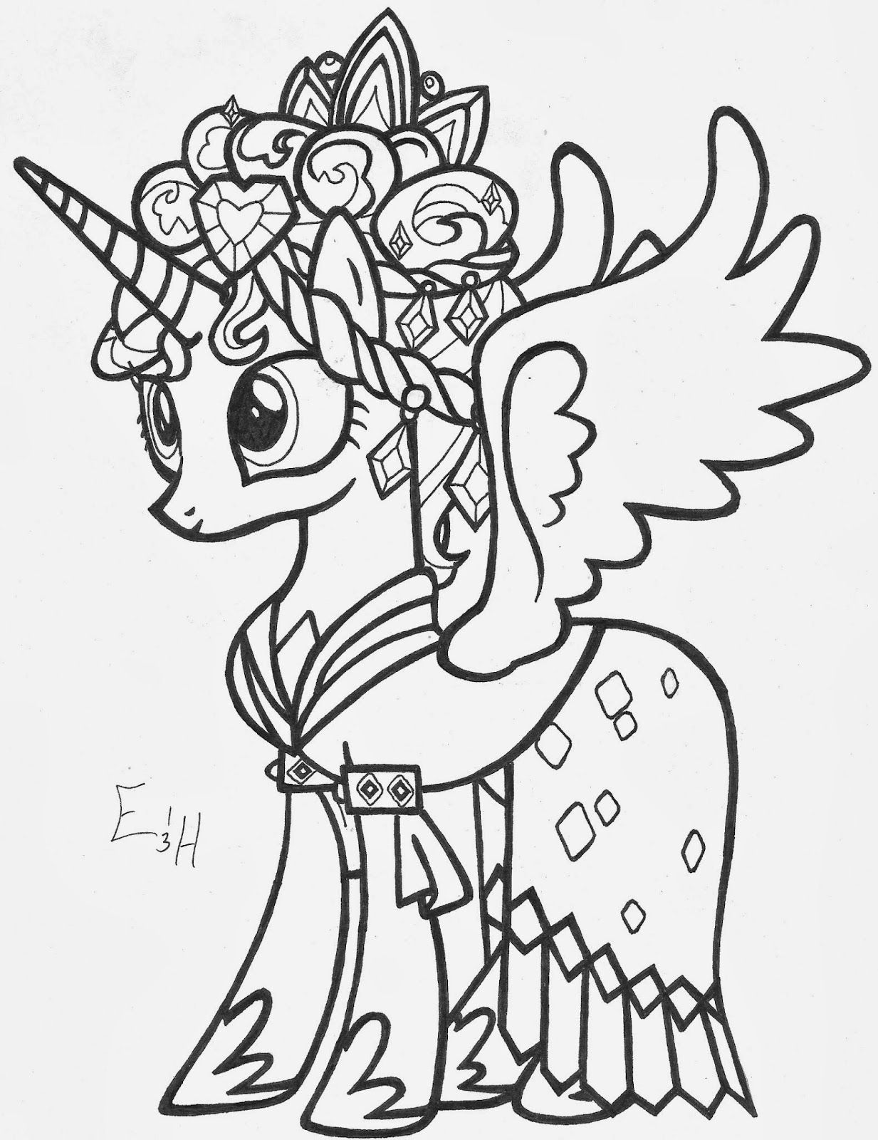 Princess Cadence Coloring Pages High Quality Coloring Pages