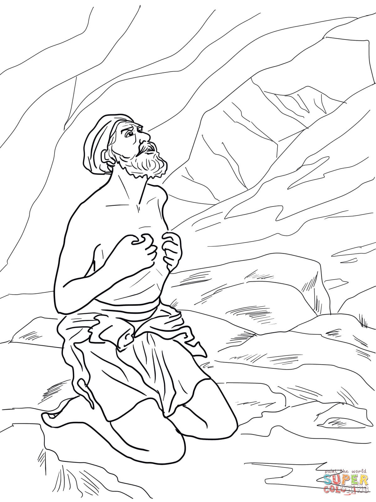 Gideon Coloring Page Free