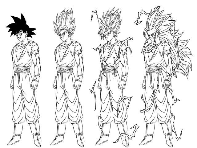 Transformation From Songoku To Son Goku Super Saiyajin 12 - Dragon