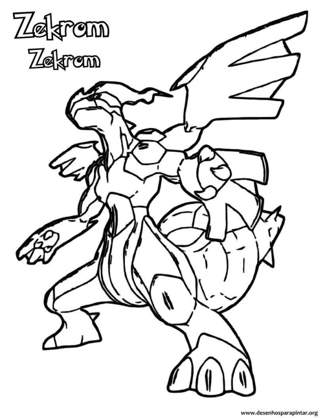 Pokemon Zekrom Coloring Pages - Coloring Home