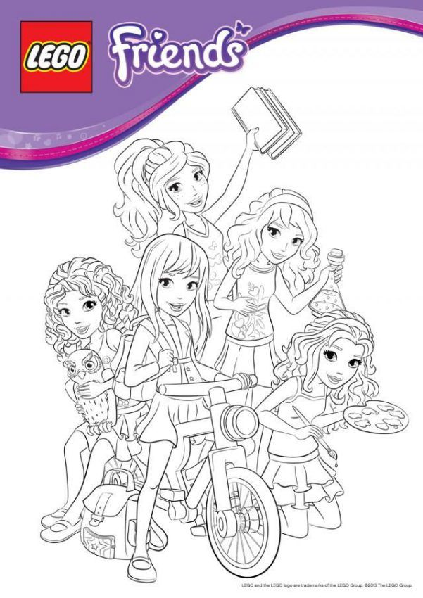 Lego Friends Coloring Pages : friends, coloring, pages, Friends, Coloring, Pages