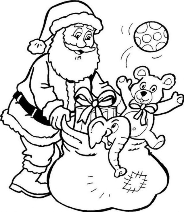 Christmas Coloring Sheets Printable Free Santa Coloring Disney