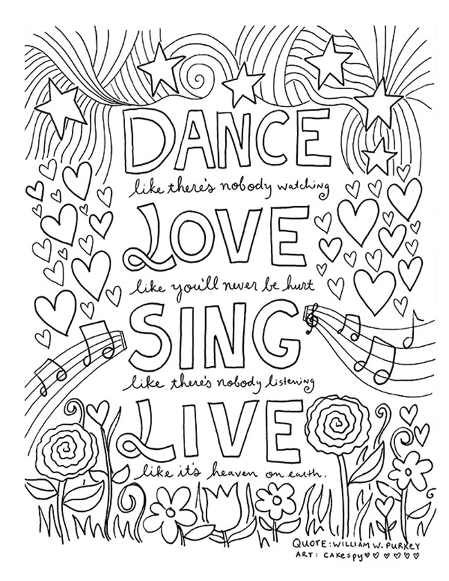 Positive Quotes Coloring Pages : positive, quotes, coloring, pages, Inspirational, Coloring, Pages