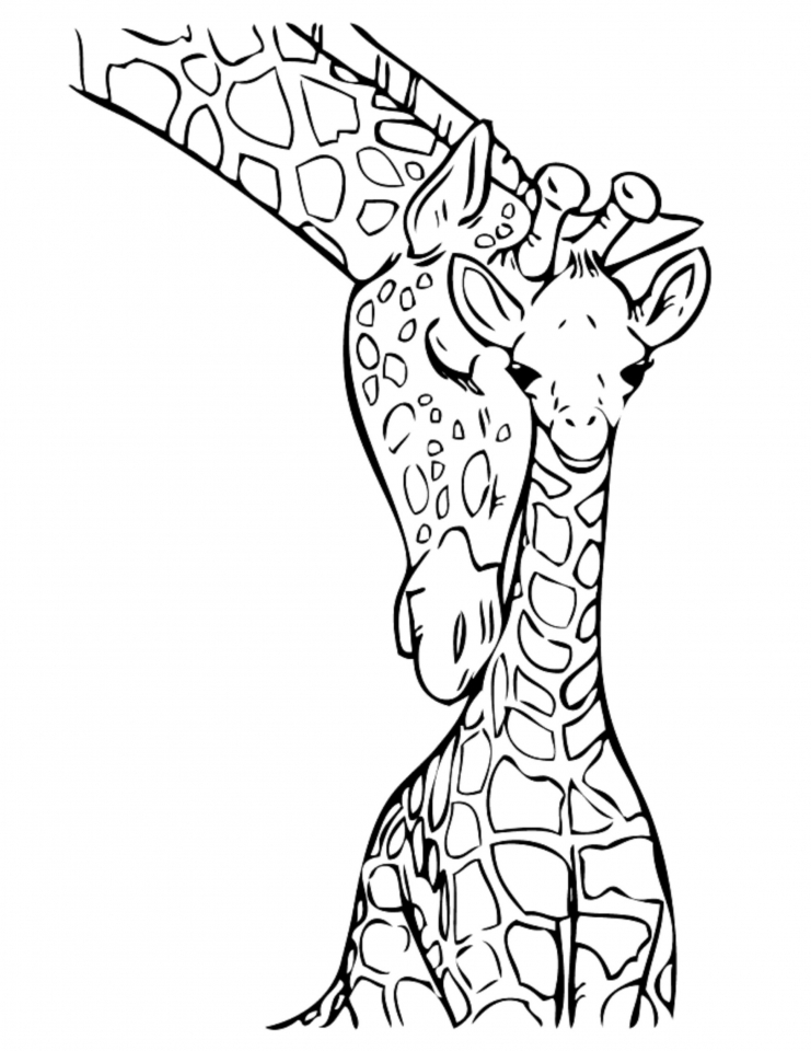 Realistic Animal Coloring Pages : realistic, animal, coloring, pages, Giraffe, Coloring, Pages, Realistic, Animals, 31794