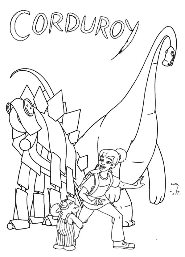 Corduroy Bear Sheet Coloring Pages