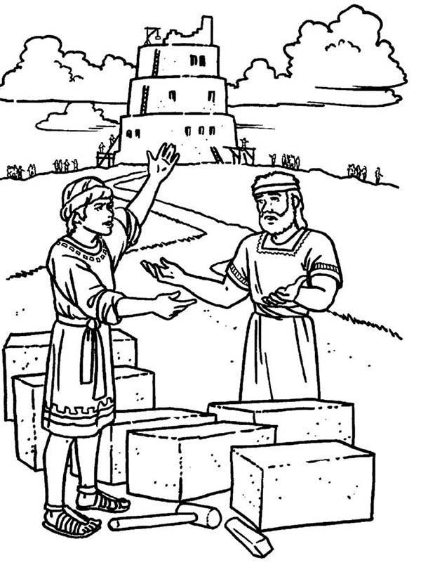 tower of babel coloring page # 5