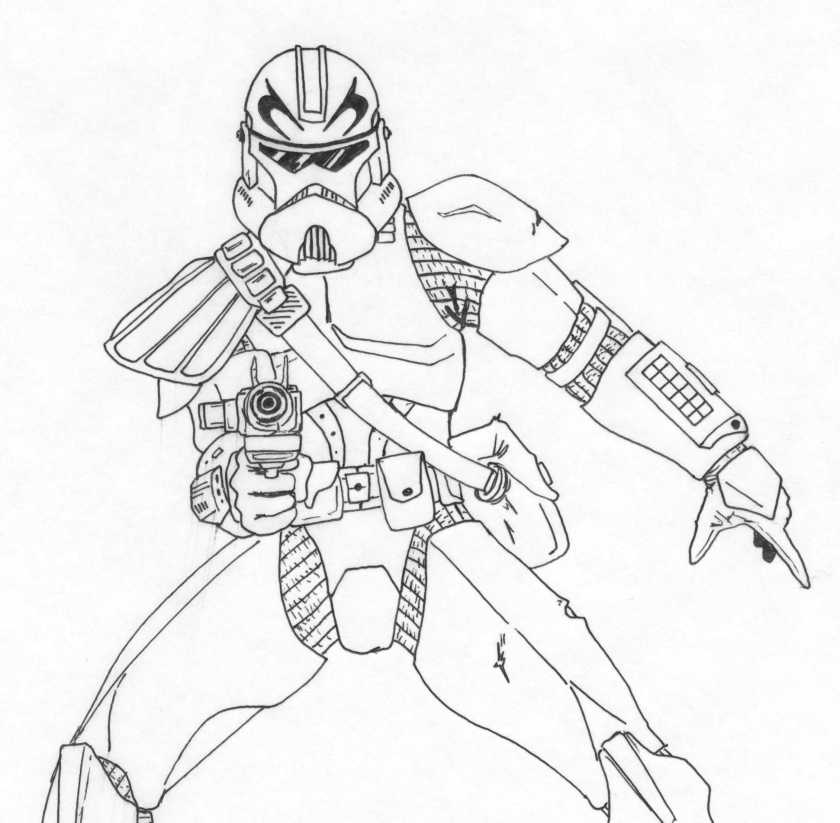 star wars captain rex coloring page  coloring home