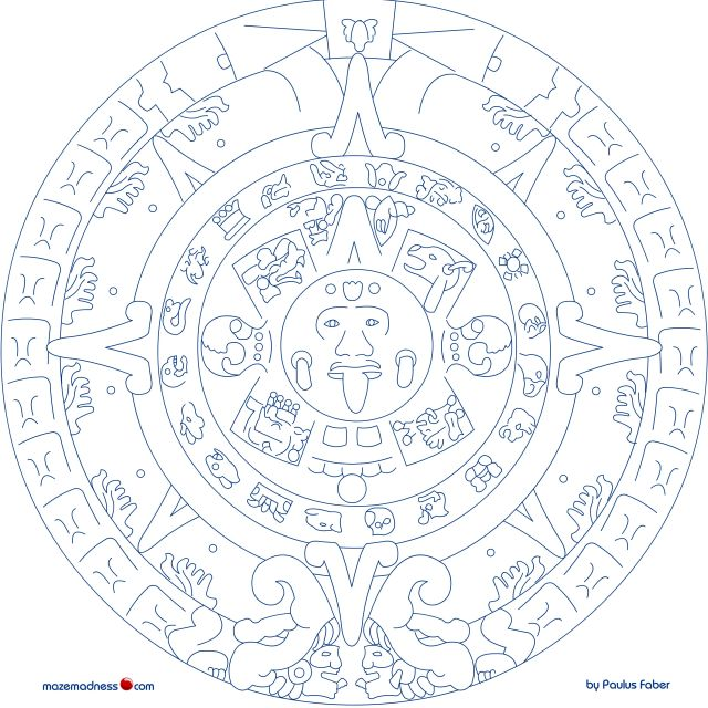 Best Photos Of Mexican Mayan Mask Coloring Page - Mayan Mask
