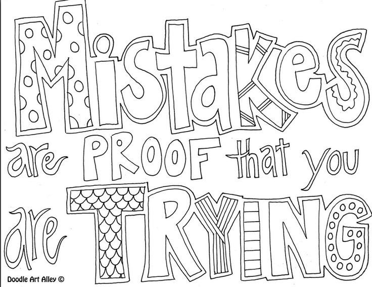 - All Quotes Coloring Pages Doodle Art Alley Coloring Pages For Coloring Home  – Cute766