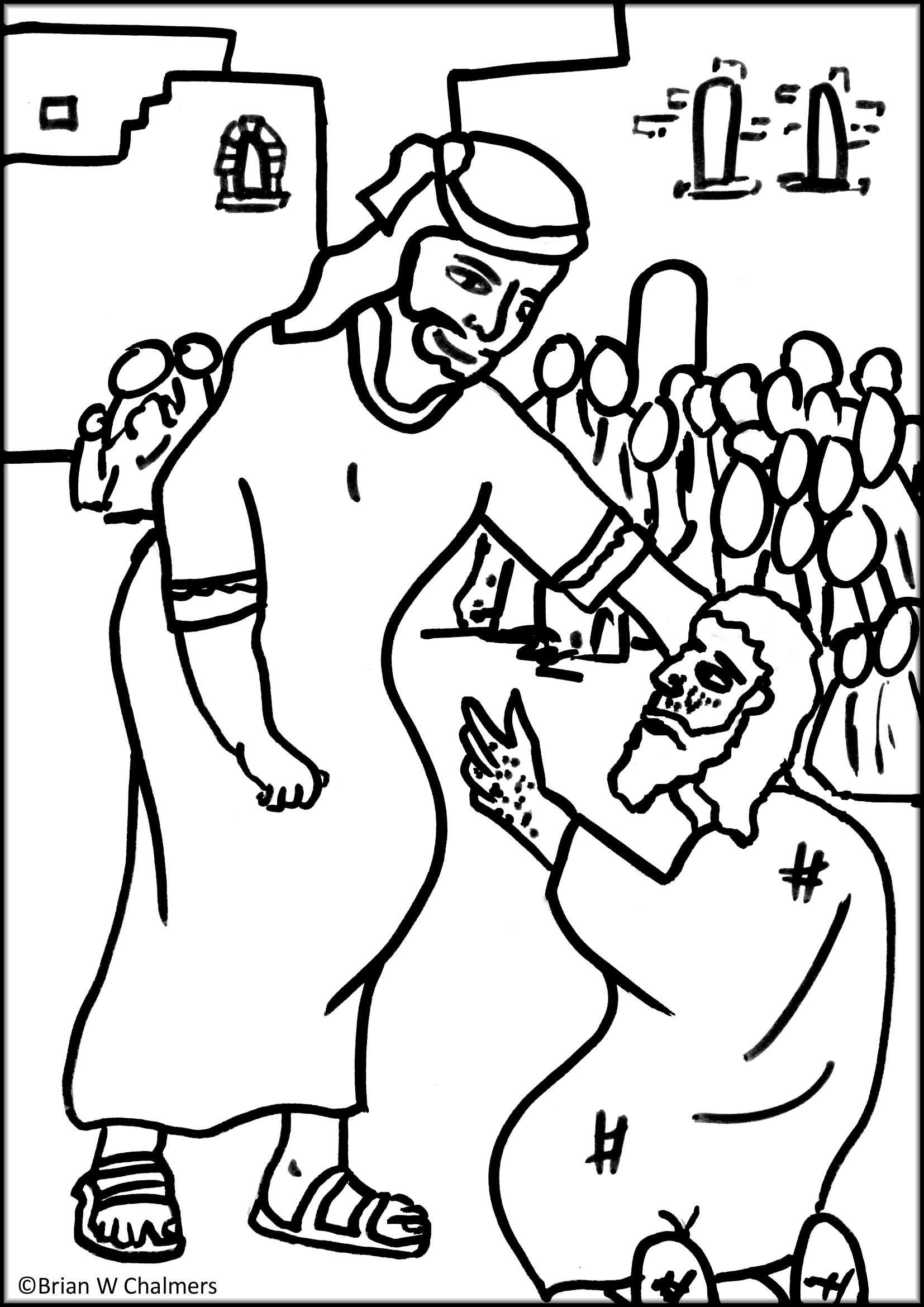 Coloring Pages Jesus Ehals