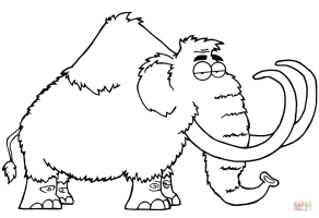 Cartoon Mammoth Coloring Page   Free Printable Coloring ...