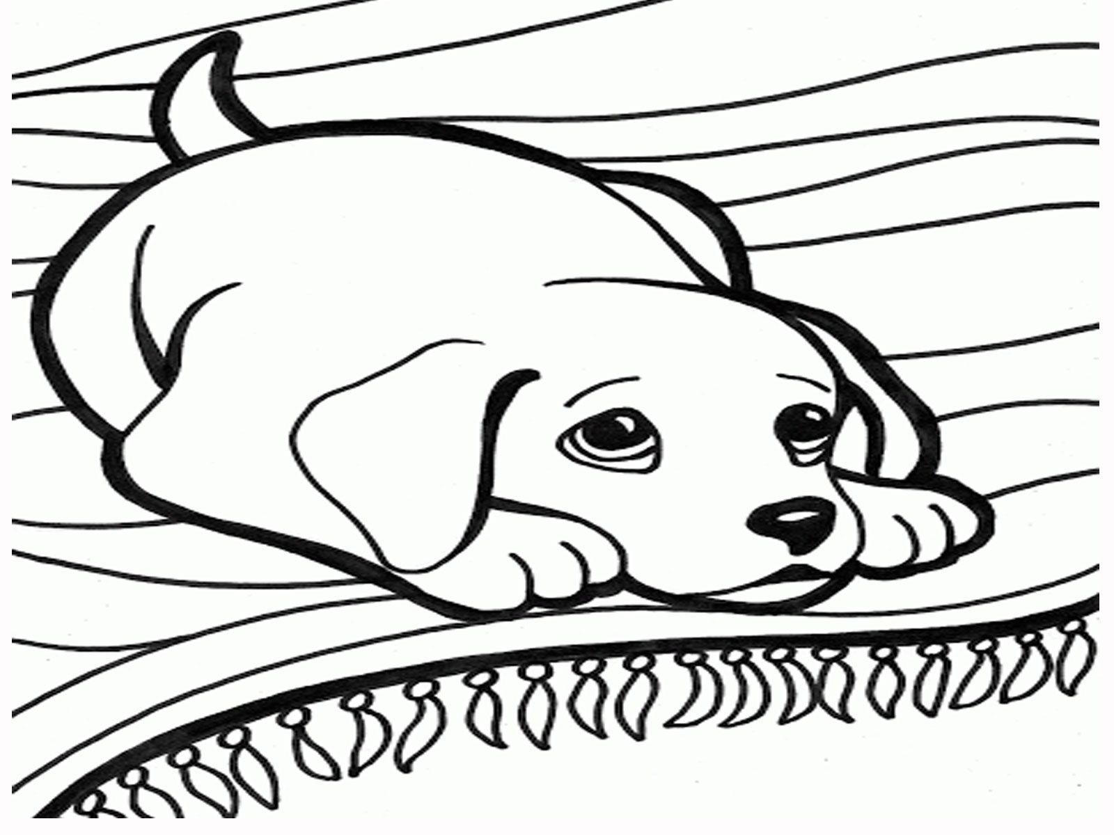 Easy Dog Coloring Pages For Girls Coloring Pages Dogs