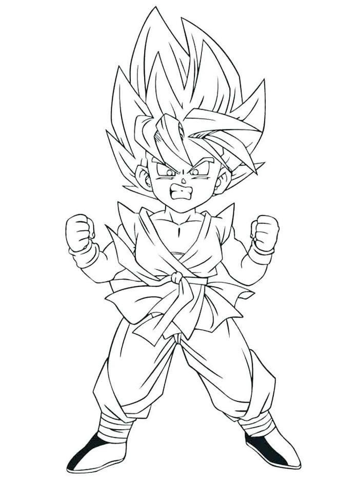 Goten Coloring Pages : goten, coloring, pages, Dragon, Coloring, Pages, Goten, Goku,, Super