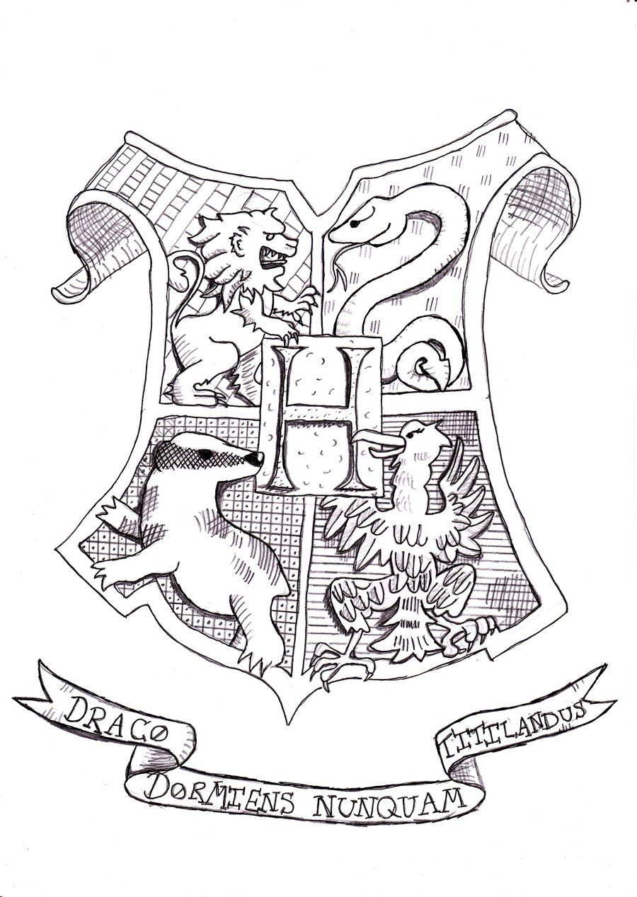 harry potter hogwarts wappen ausmalbilder  malvorlagen gratis