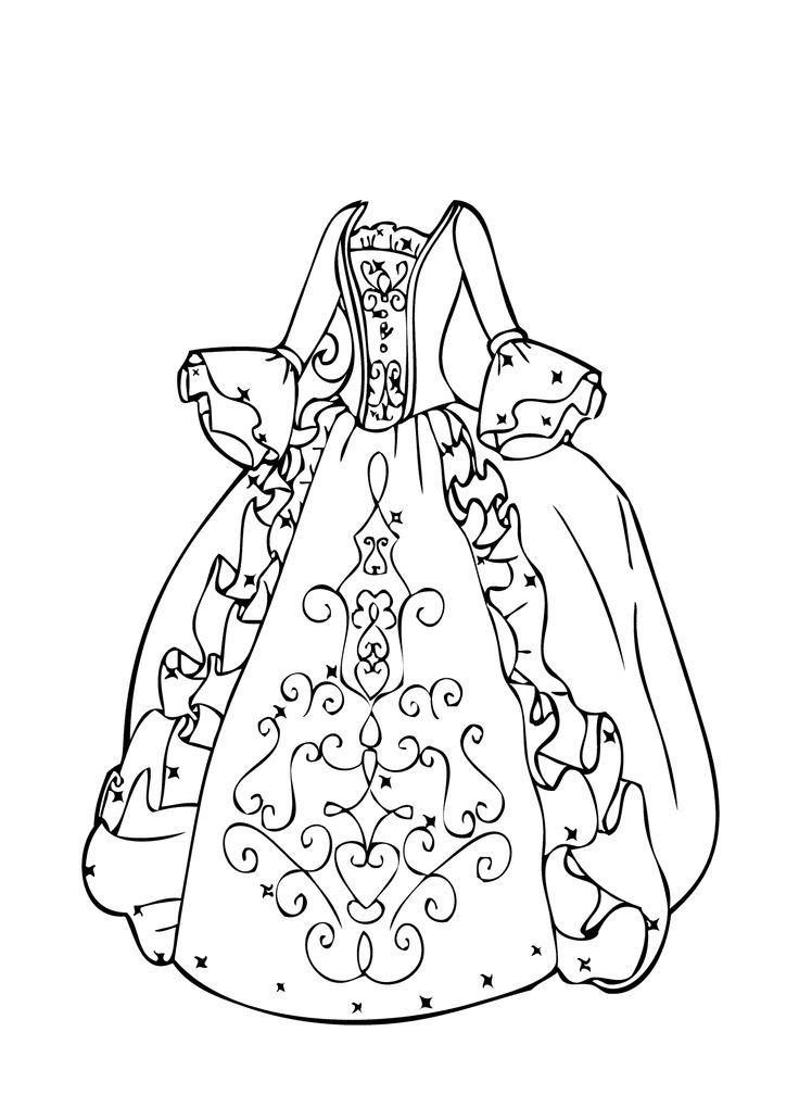 Coloring Pages Dresses : coloring, pages, dresses, Beautiful, Girls, Coloring, Pages