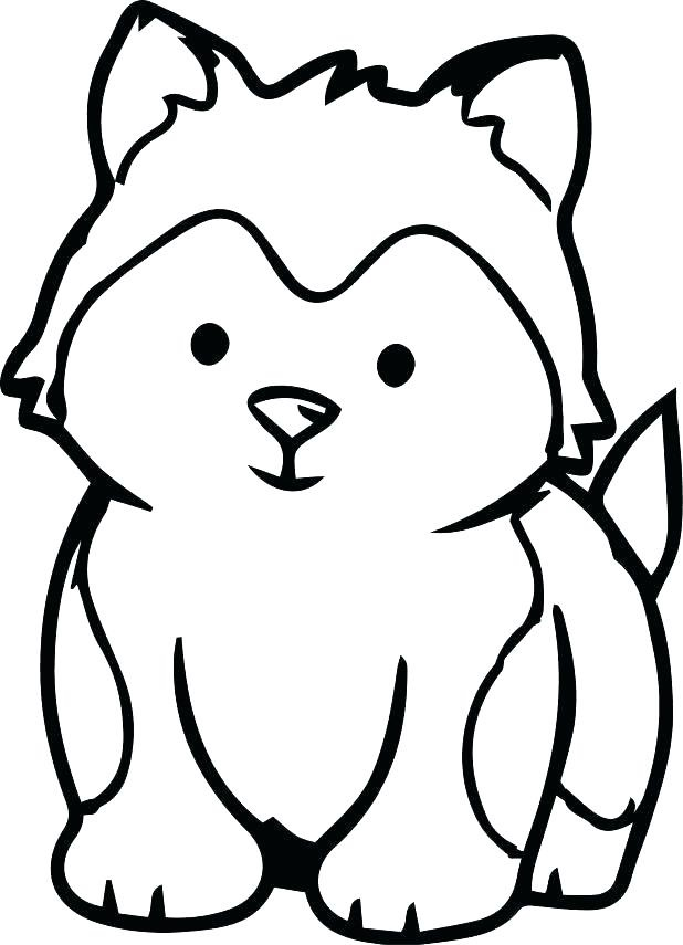 Husky Coloring Page : husky, coloring, Husky, Puppy, Coloring, Printable, Pages