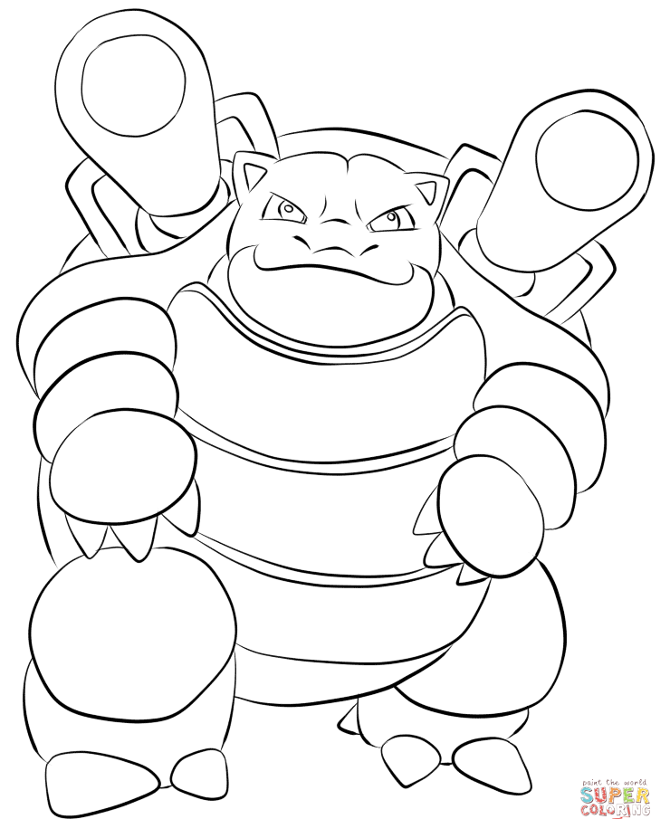 Pokemon Coloring Pages Mega Blastoise : pokemon, coloring, pages, blastoise, Blastoise, Coloring, Printable, Pages