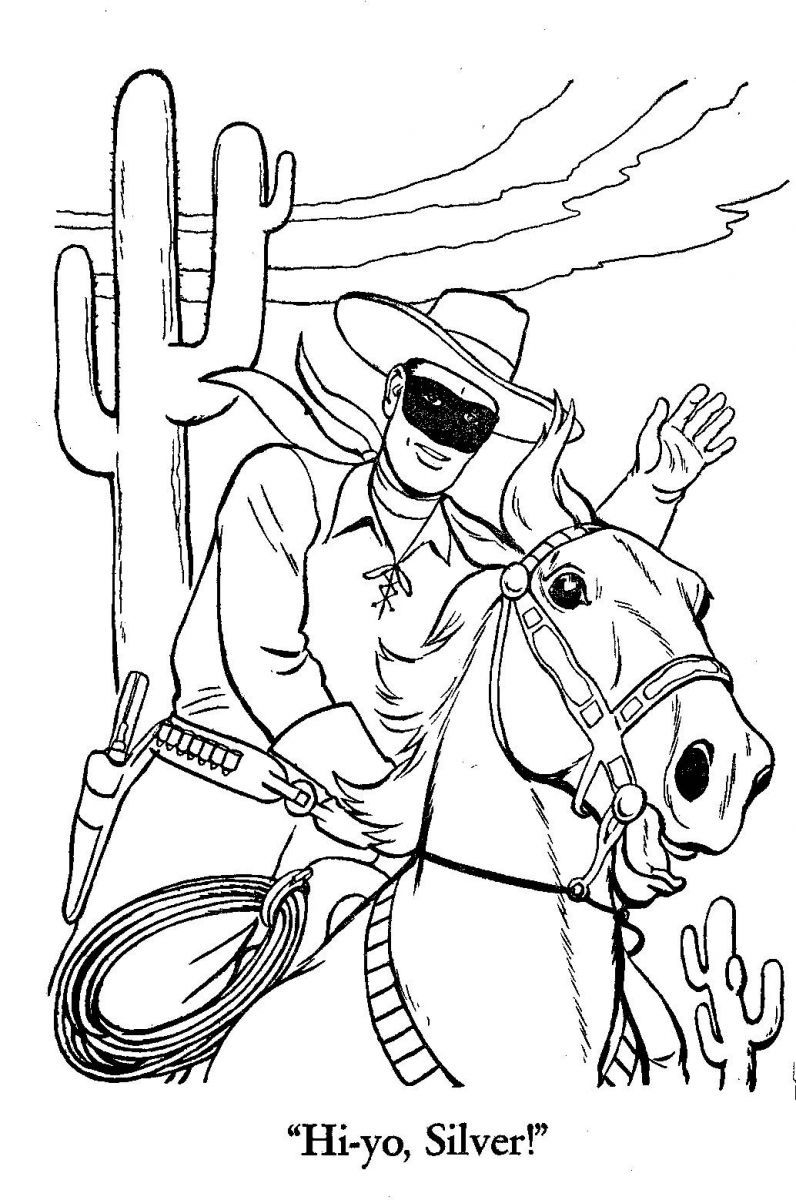 Lone Ranger Coloring Page Coloring Home