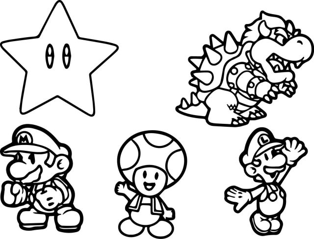 Mario Characters Coloring Pages  Coloring Pages - Coloring Home