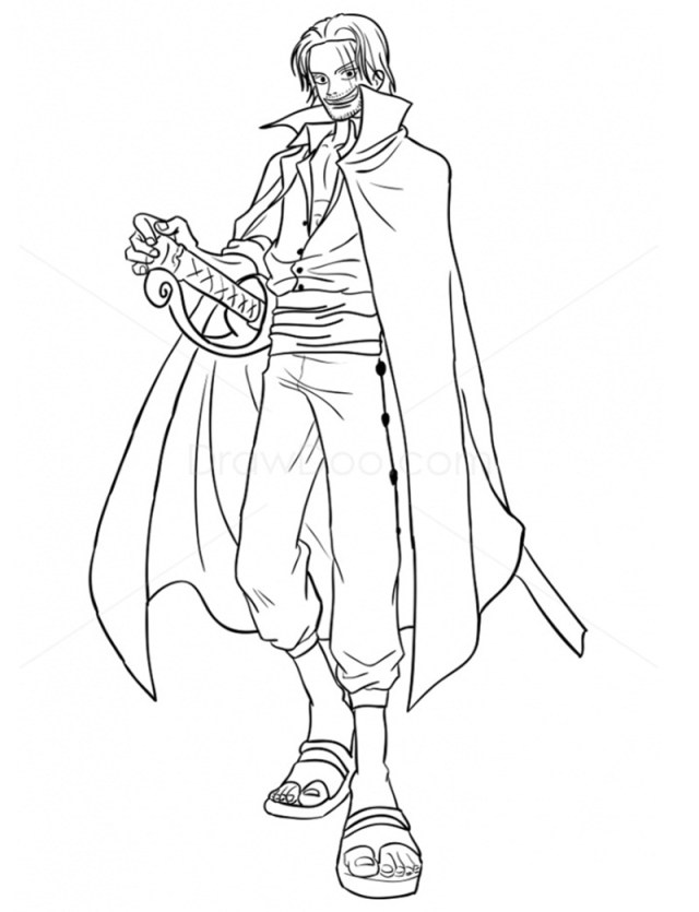 One Piece Coloring Pages - AnimeColoringPages.Com - Coloring Home
