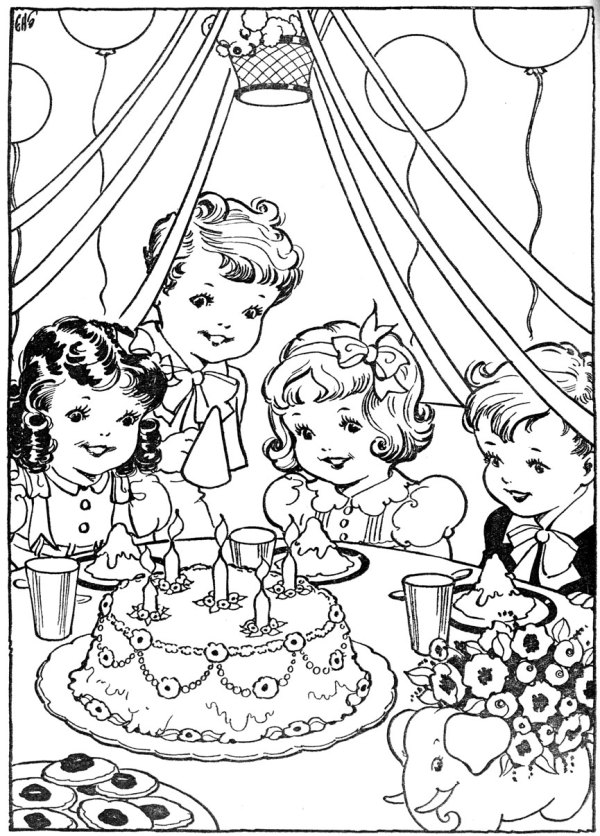 vintage coloring pages # 86