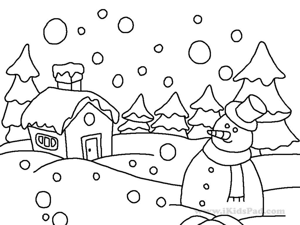 Winter Coloring Pages For Kindergarten - Coloring Home | colouring sheets for kindergarten