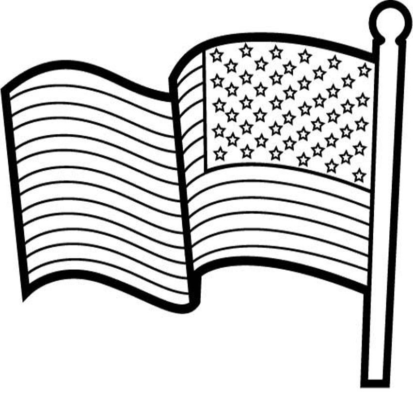 Printable American Flag Coloring Page Coloring Home