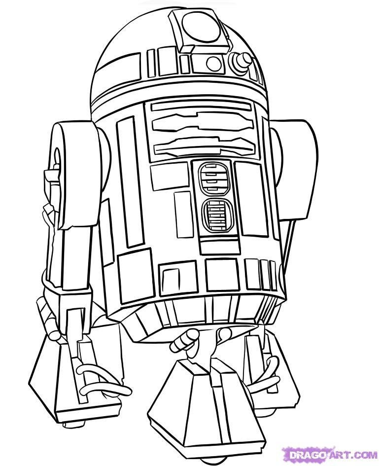 Star Wars Character Outlines : character, outlines, Cartoon, Characters, Coloring