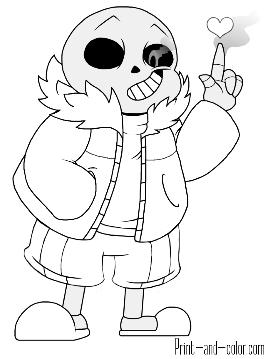 Undertale Sans Coloring Pages : undertale, coloring, pages, Coloring, Pages