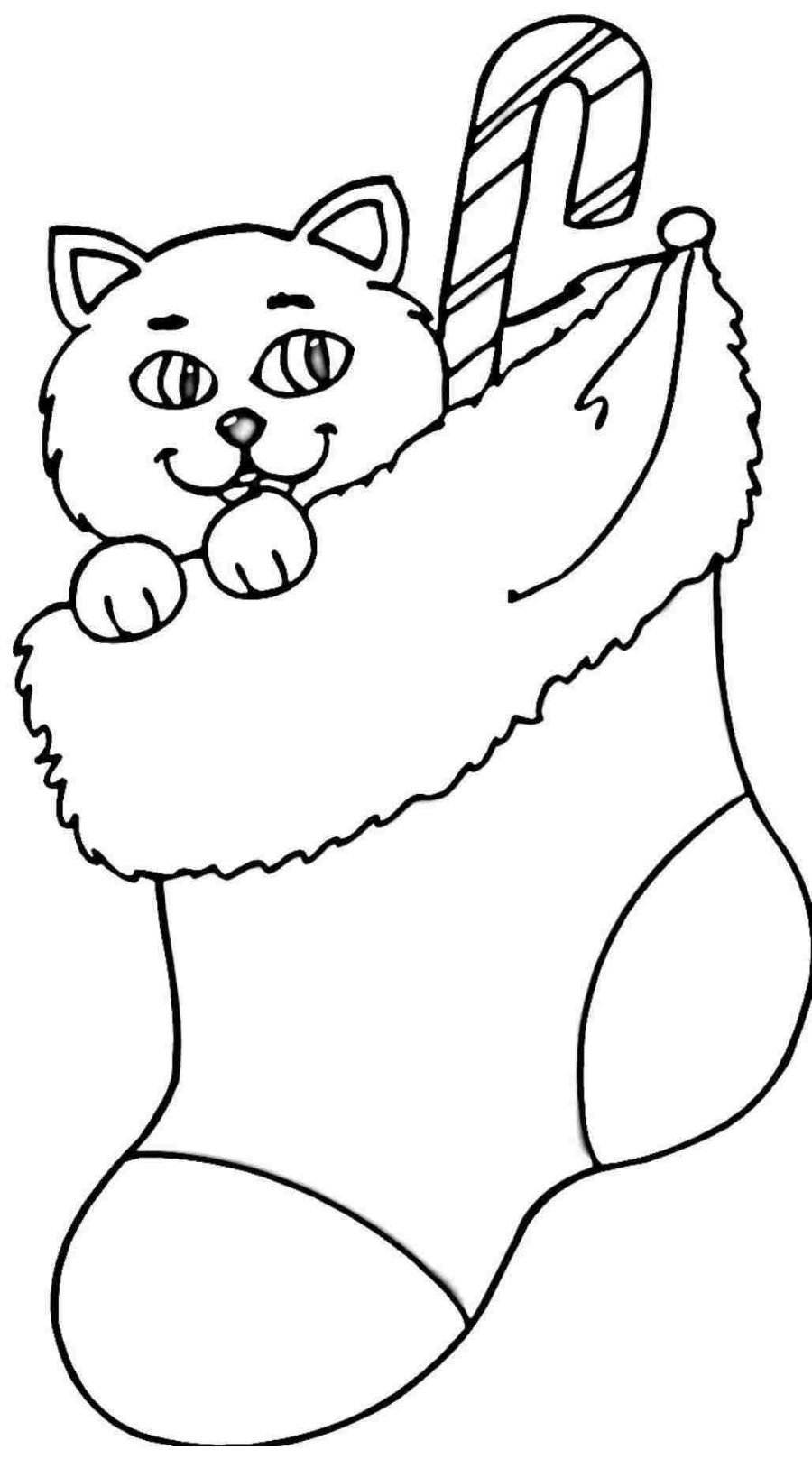 Coloring Pages Christmas Stocking - Coloring Home