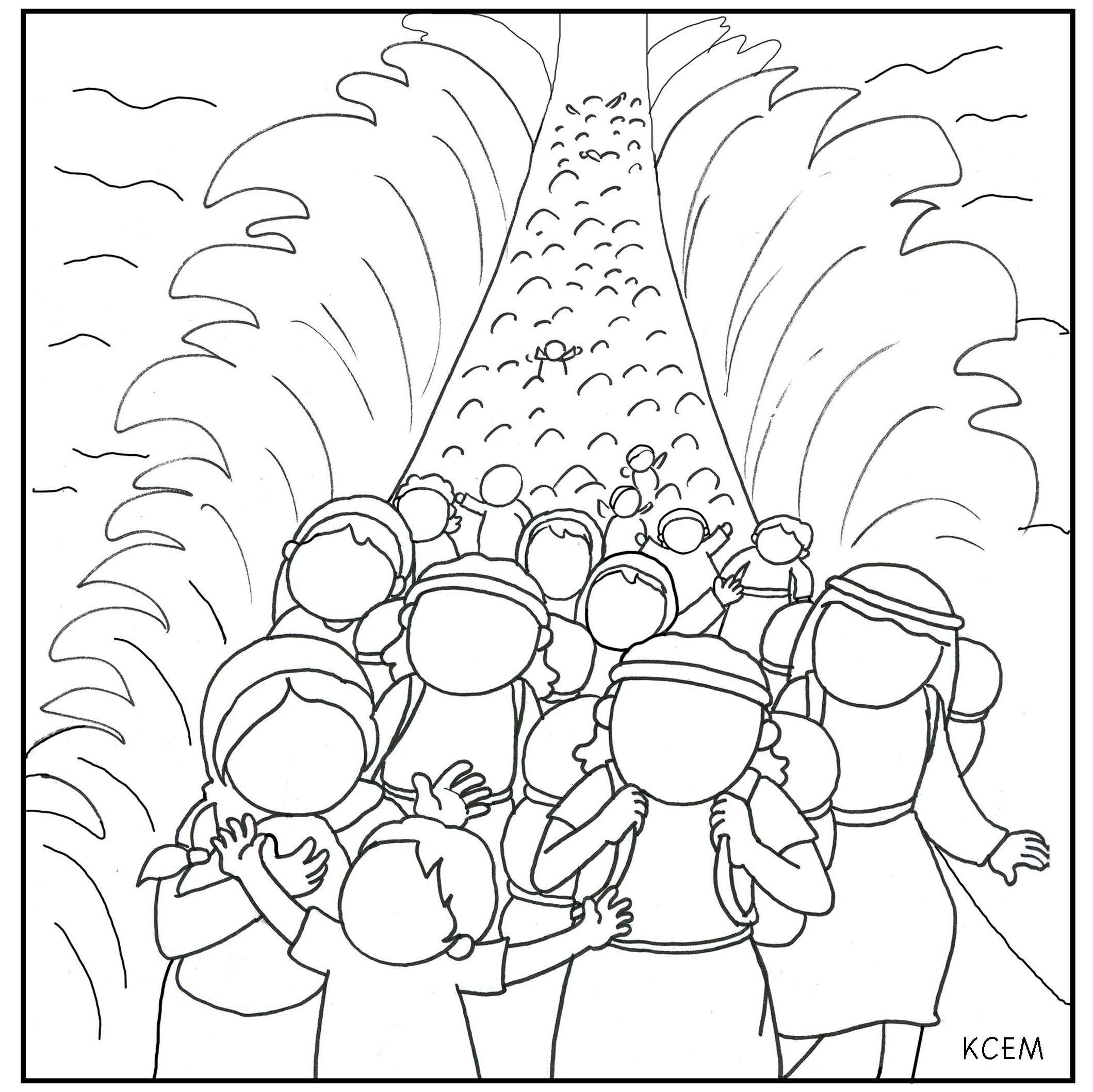 Moses Crosses Red Sea Coloring Page Sketch Coloring Page