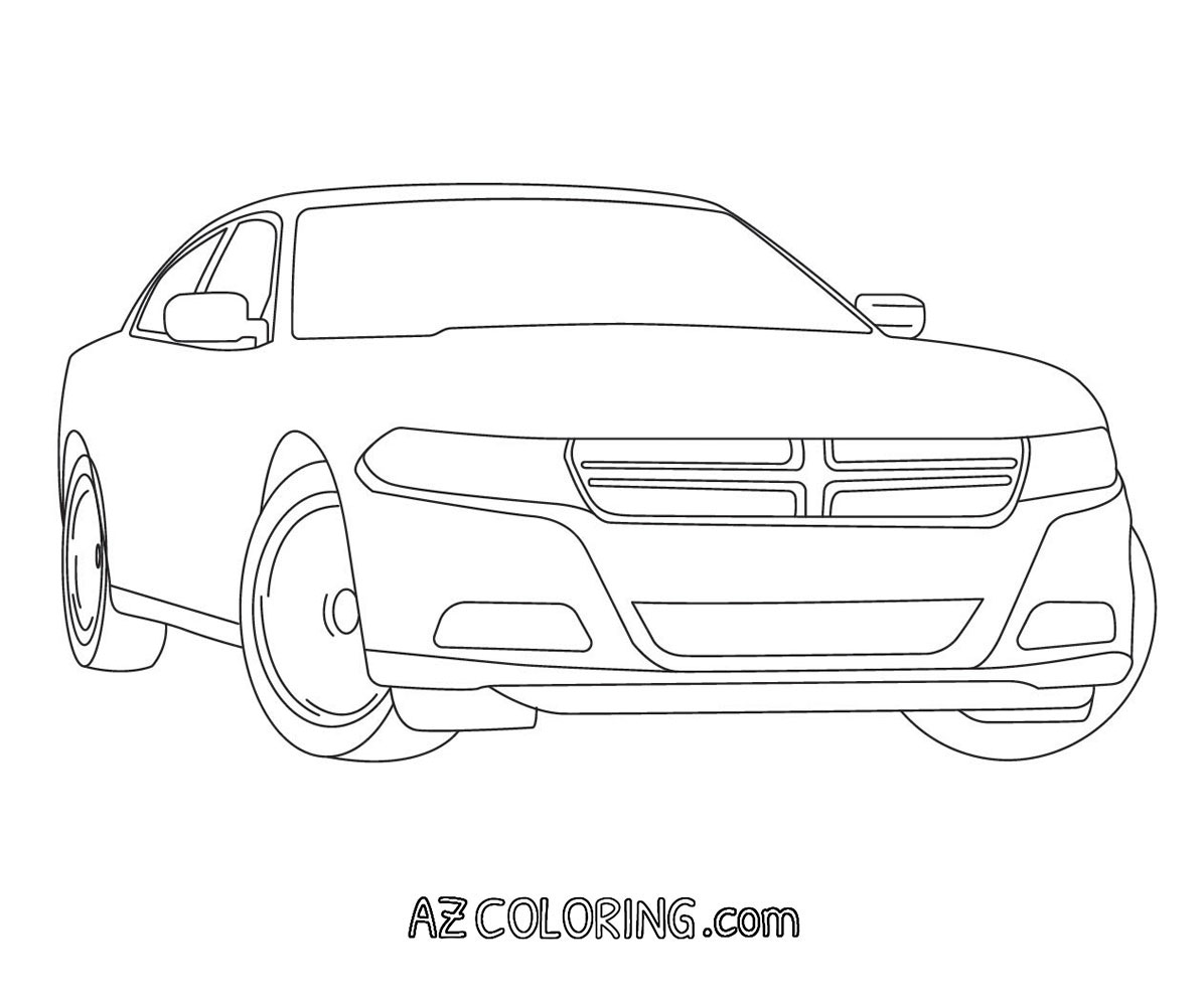 Charger Coloring Sheets Coloring Pages