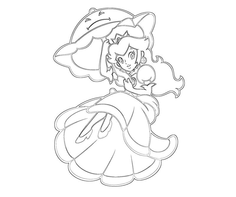 princess peach coloring pages to print free  coloring home