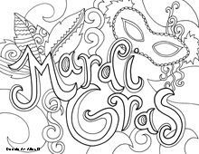 mardi gras coloring pages free printable # 12