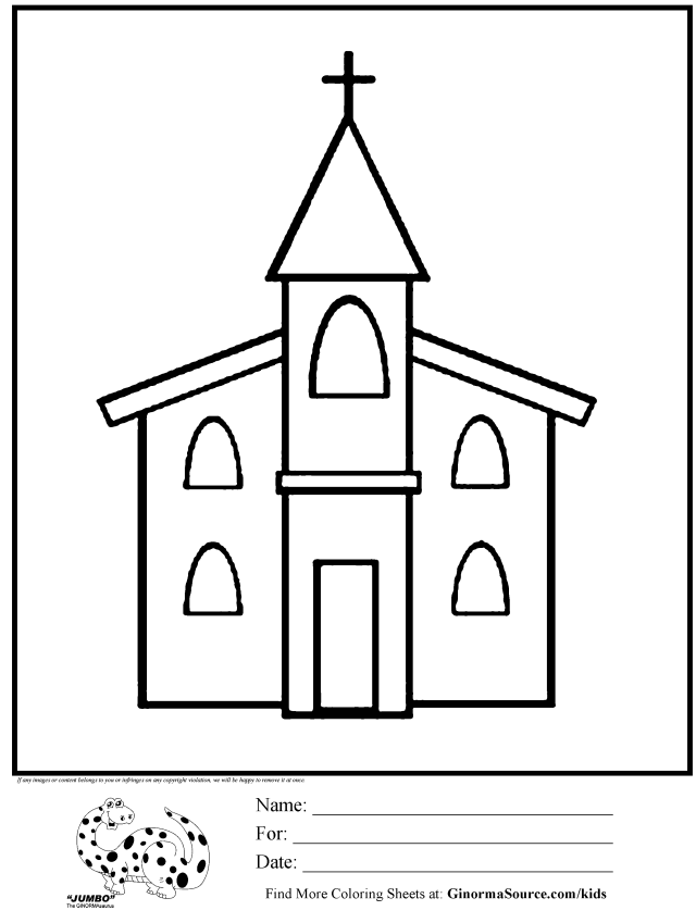Church Coloring Pages To Download And Print For Free - Coloring Home