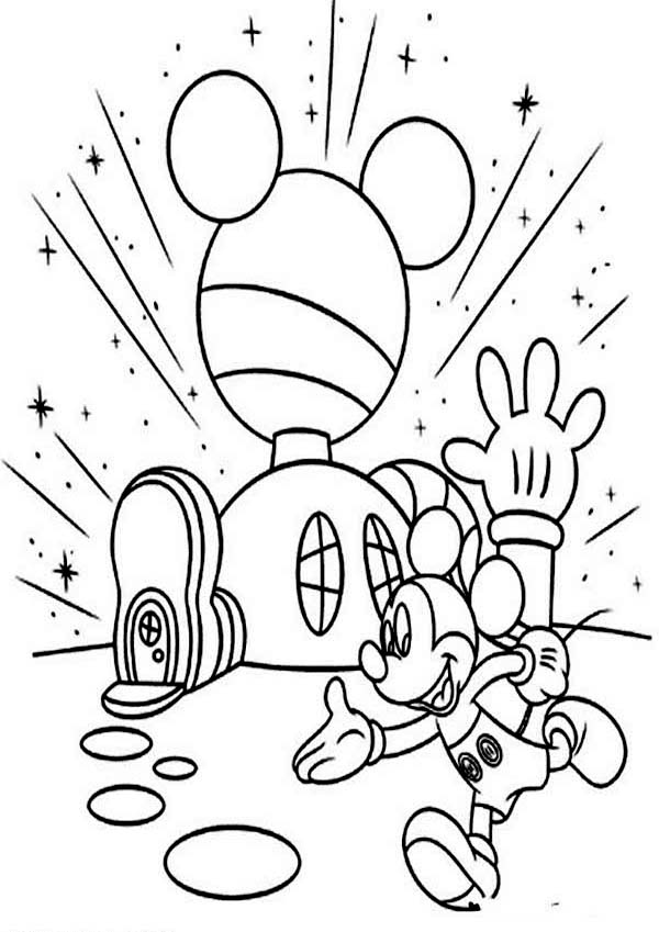 Images Coloring Pages Mickey Mouse House Of Mouse