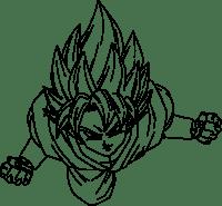 Goku Super Saiyan God Coloring Pages - Coloring Home