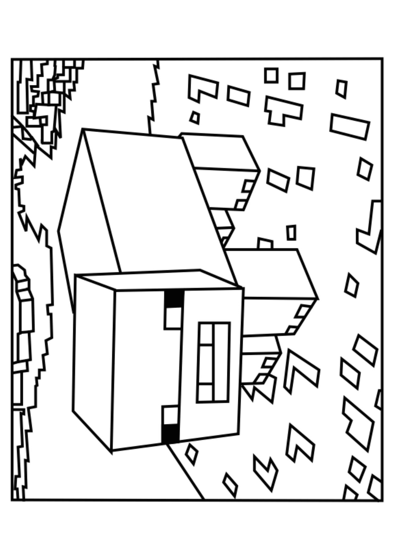 Printable Coloring Pages Minecraft