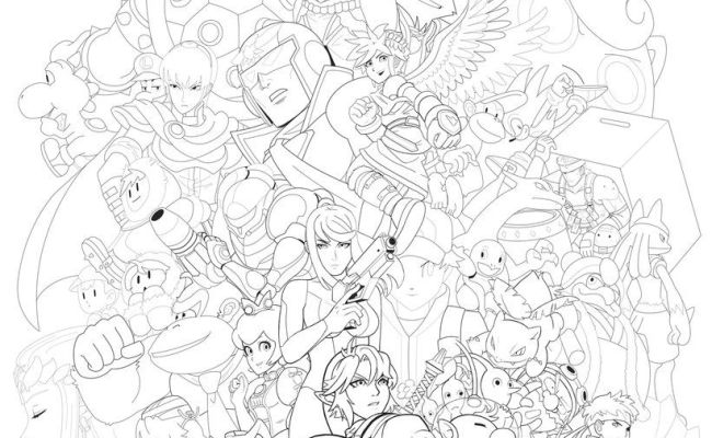 Super Smash Bros Coloring Pages Coloring Pages Smash Bros Super Smash Bros Brawl Cute766