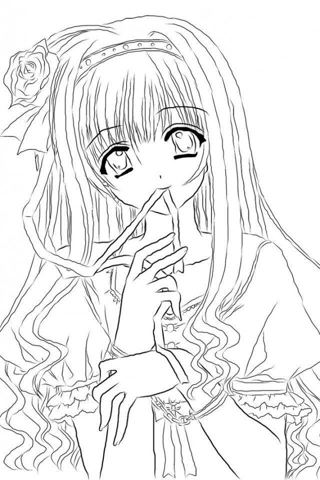 Anime Online Coloring Pages For Kids And For Adults Coloring Home
