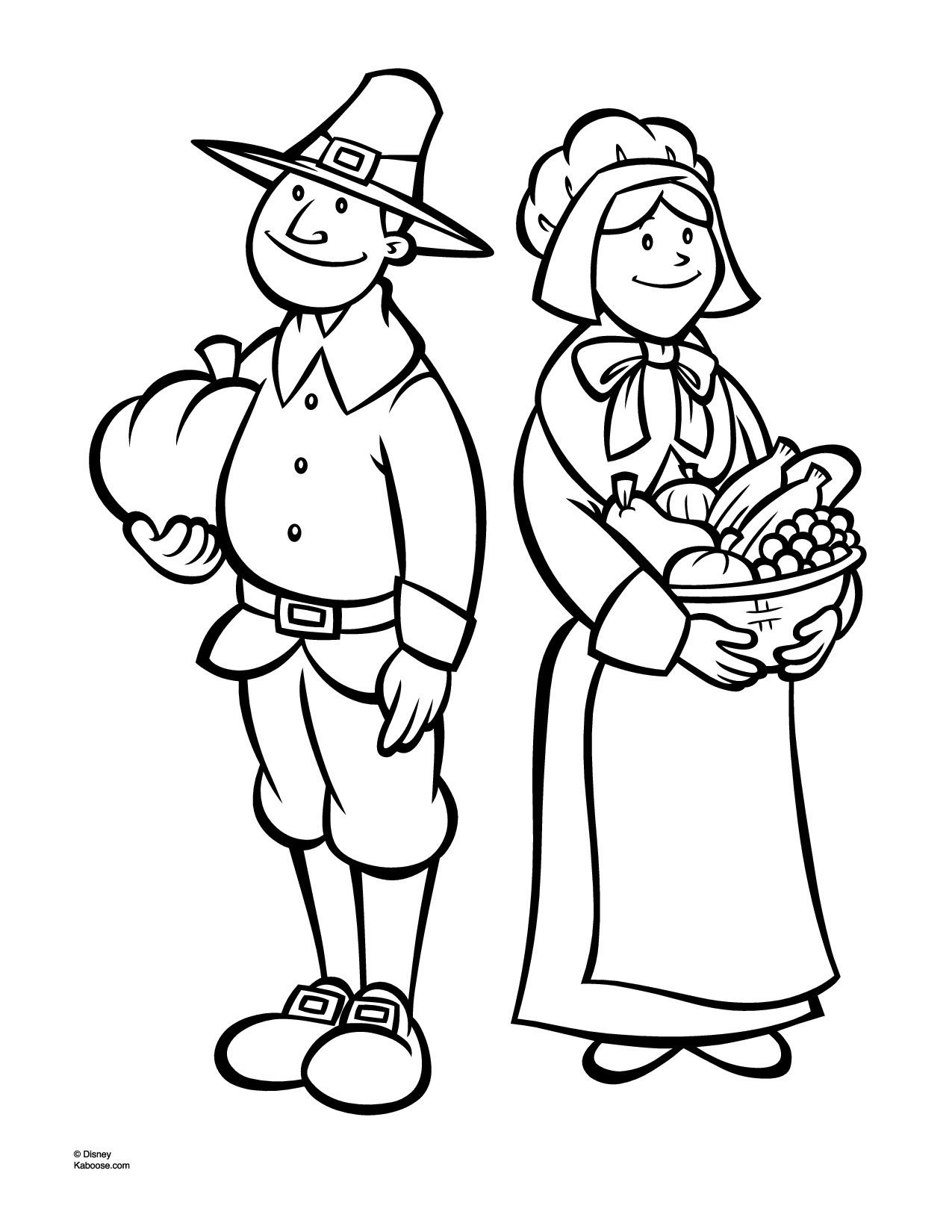 Indian Corn Coloring Page