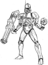 Coloriage Star Wars Capitaine Rex