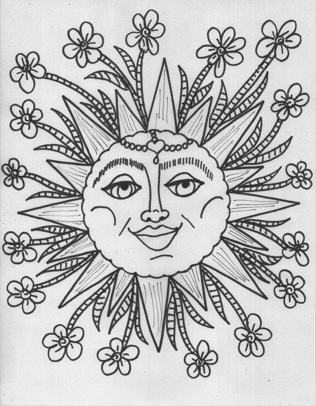 Printable Hippie Coloring Pages Novocom Top