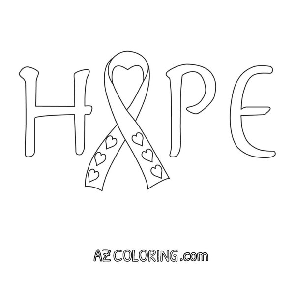 breast cancer coloring pages # 4