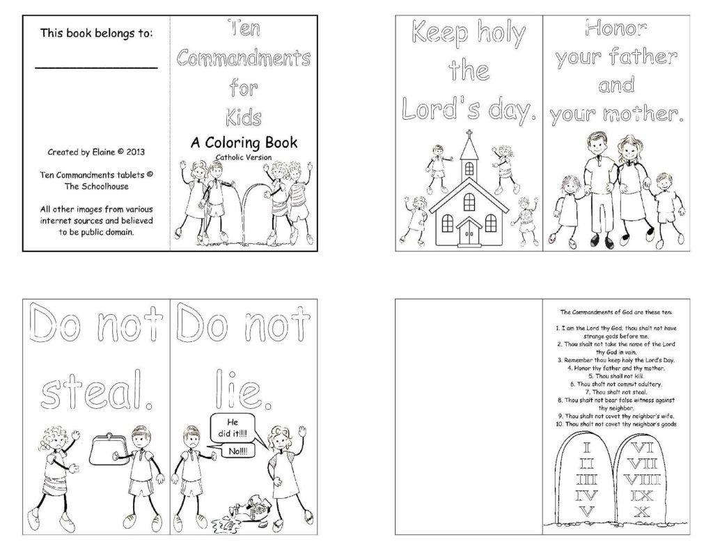 Ten Commandments Coloring Pages