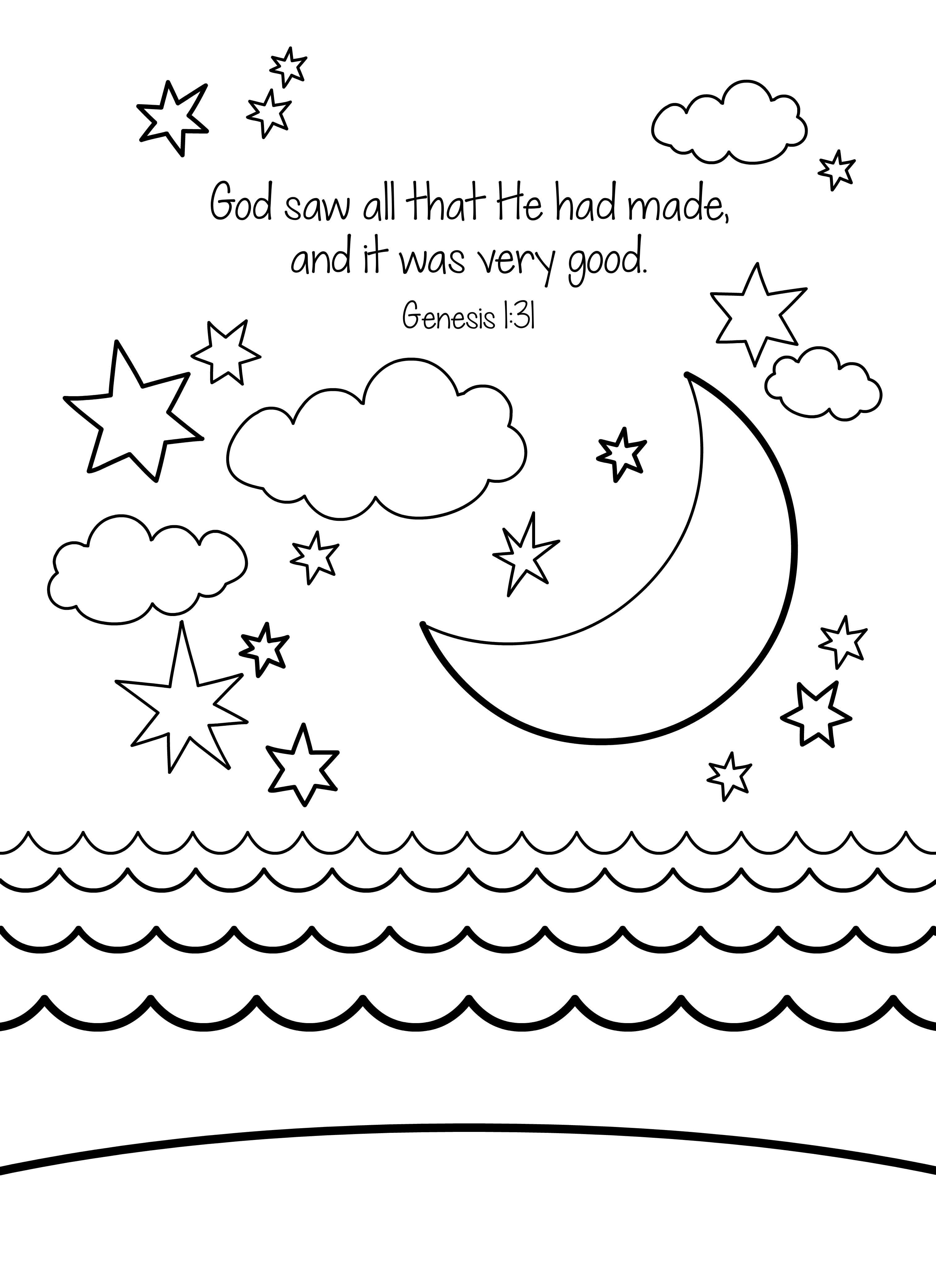 9 Pics Of Bible Verse Genesis 1 Coloring Pages