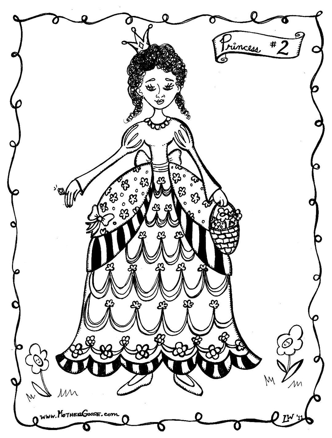 Flower Princess Coloring Pages