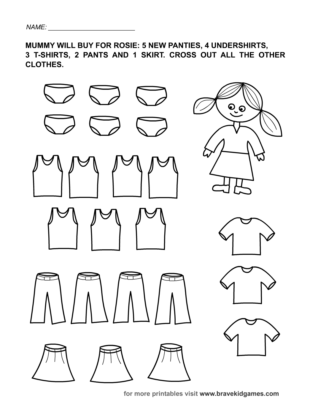 Toddler Activity Sheets